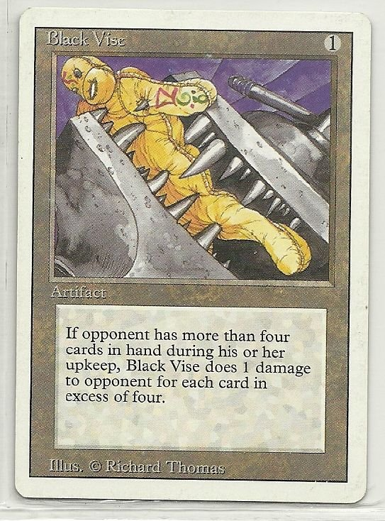 Image 0 of MTG Magic The Gathering 3rd Edition Black Vise Card Uncommon