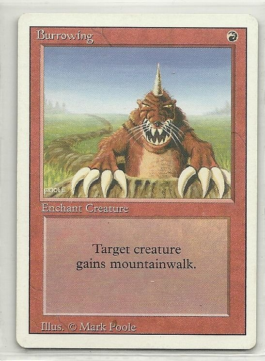 Image 0 of MTG Magic The Gathering 3rd Edition Burrowing Card Uncommon