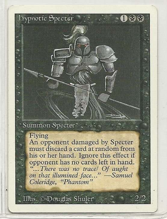 Image 0 of MTG Magic The Gathering 3rd Edition Hypnotic Specter Card Uncommon