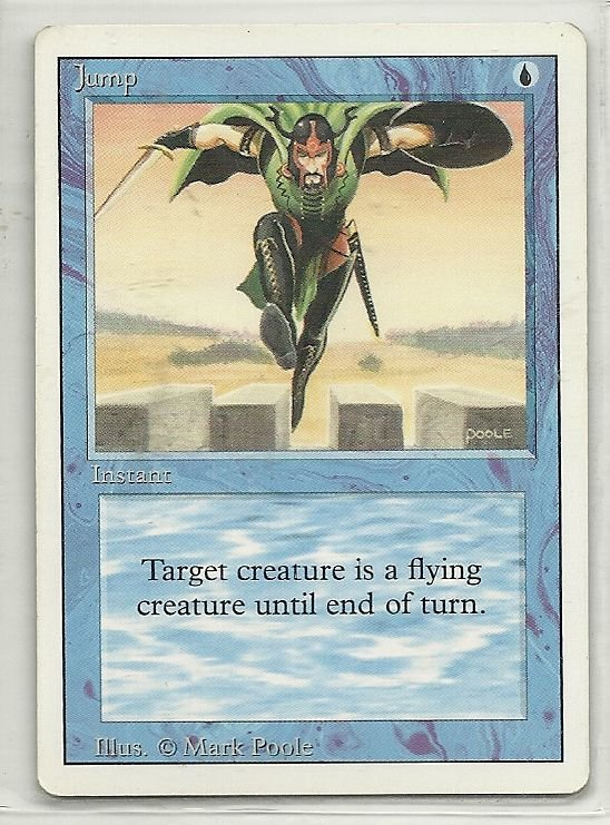 Image 0 of MTG Magic The Gathering 3rd Edition Jump Card Common