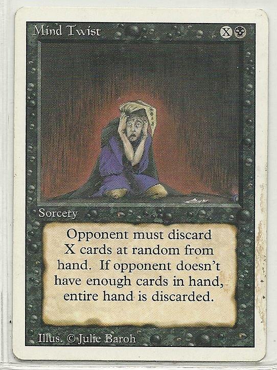 Image 0 of MTG Magic The Gathering 3rd Edition Mind Twist Card Rare