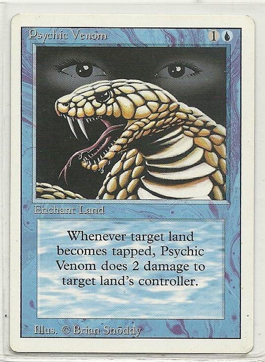 Image 0 of MTG Magic The Gathering 3rd Edition Psychic Venom Card Common