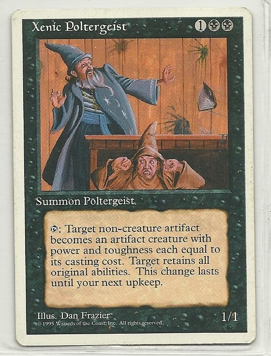 Image 0 of MTG Magic The Gathering 4th Edition Xenic Poltergeist Card Rare