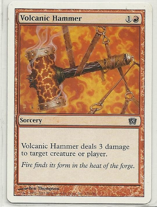 Image 0 of MTG Magic The Gathering 8th Edition Volcanic Hammer Card Common
