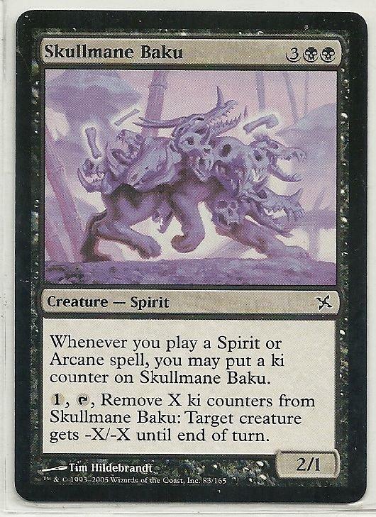 Image 0 of MTG Magic The Gathering Betrayers of Kamigawa Skullmane Baku Card Common
