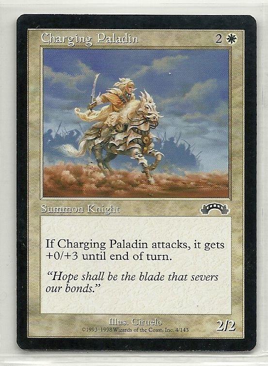 Image 0 of MTG Magic The Gathering Exodus Charging Paladin Card Common
