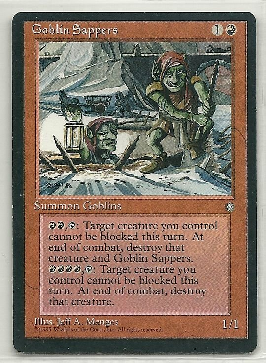 Image 0 of MTG Magic The Gathering Ice Age Goblin Sappers Card Common