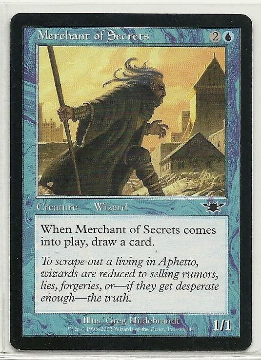 Image 0 of MTG Magic The Gathering Legions Merchant of Secrets Card Common