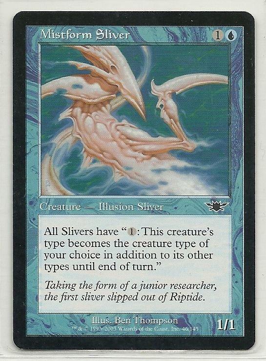 Image 0 of MTG Magic The Gathering Legions Mistform Sliver Card Common