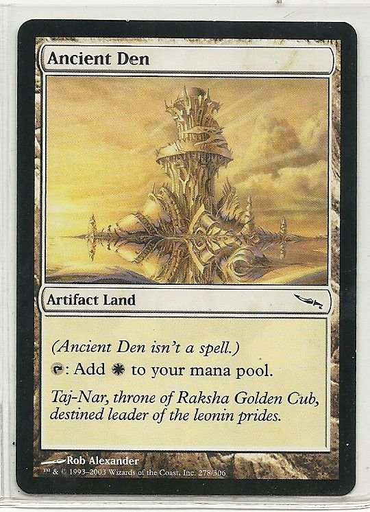 Image 0 of MTG Magic The Gathering Mirrodin Ancient Den Card Common