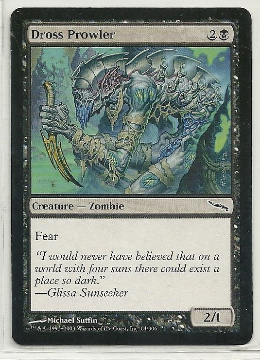 Image 0 of MTG Magic The Gathering Mirrodin Dross Prowler Card Common