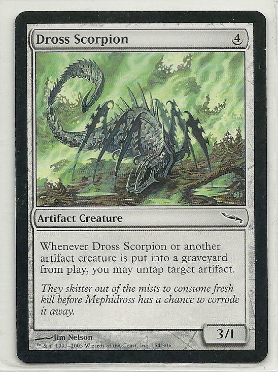 Image 0 of MTG Magic The Gathering Mirrodin Dross Scorpion Card Common