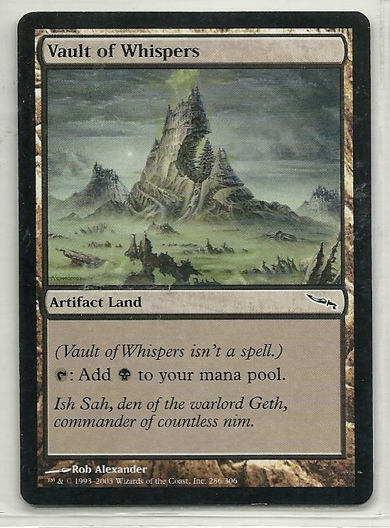 Image 0 of MTG Magic The Gathering Mirrodin Vault of Whispers Card Common