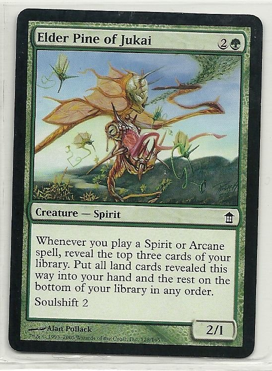 Image 0 of MTG Magic The Gathering Saviors of Kamigawa Elder Pine of Jukai Card Common