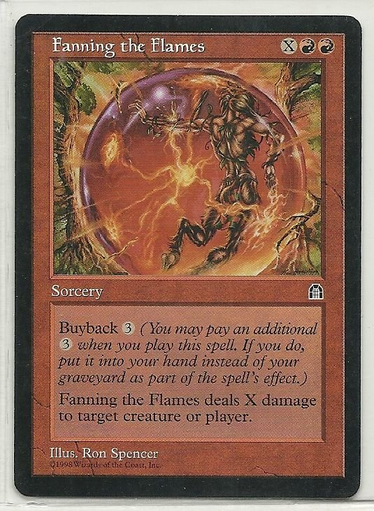 Image 0 of MTG Magic The Gathering Stronghold Fanning the Flames Card Uncommon