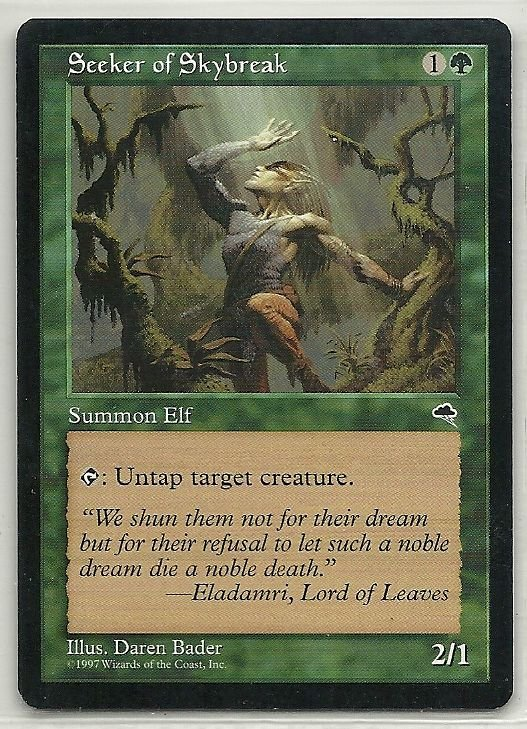 Image 0 of MTG Magic The Gathering Tempest Seeker of Skybreak Card Common