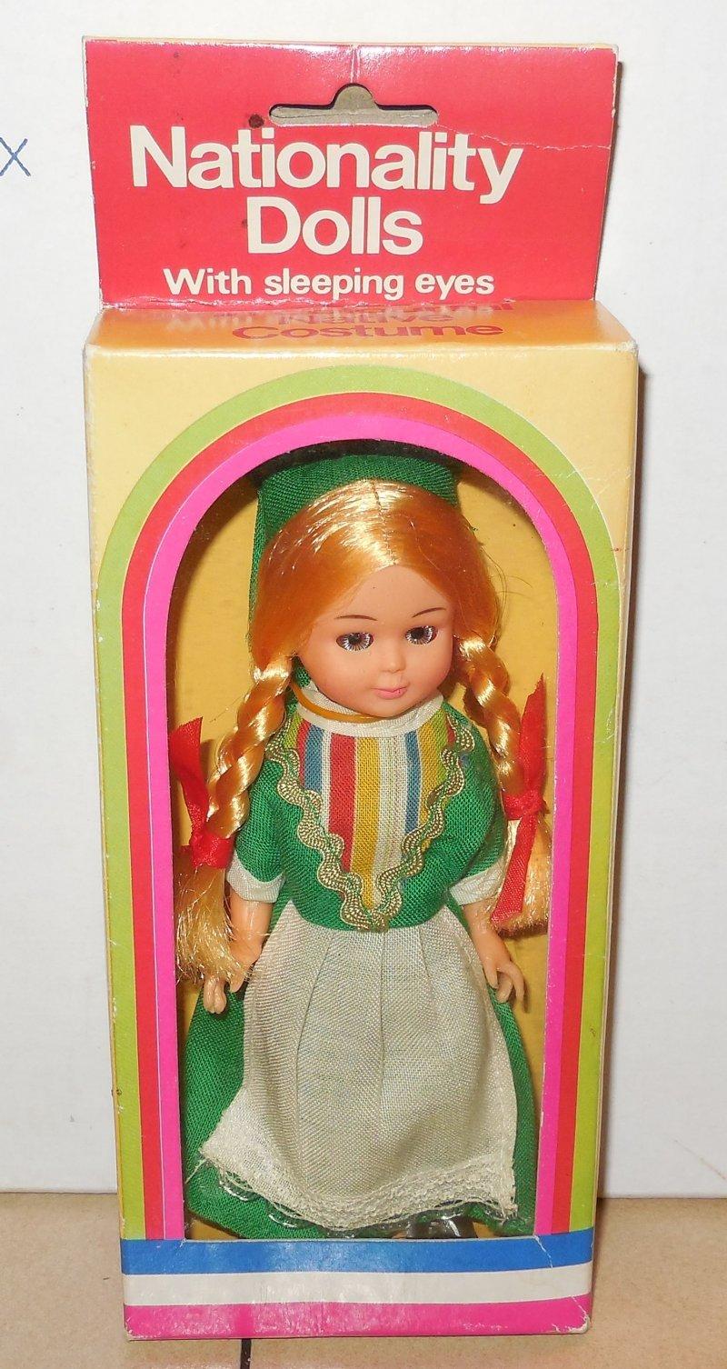 Image 0 of Vintage Nationality Dolls Ireland Doll In Box W Sleepy Eyes Moveable