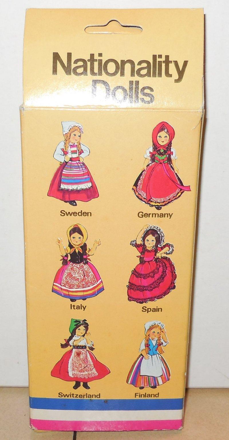 Image 1 of Vintage Nationality Dolls Ireland Doll In Box W Sleepy Eyes Moveable