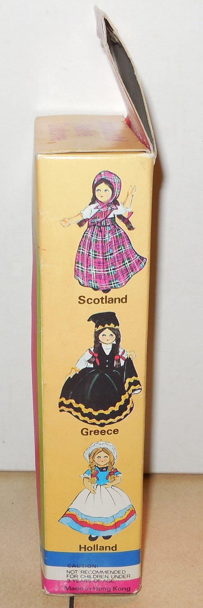 Image 3 of Vintage Nationality Dolls Ireland Doll In Box W Sleepy Eyes Moveable