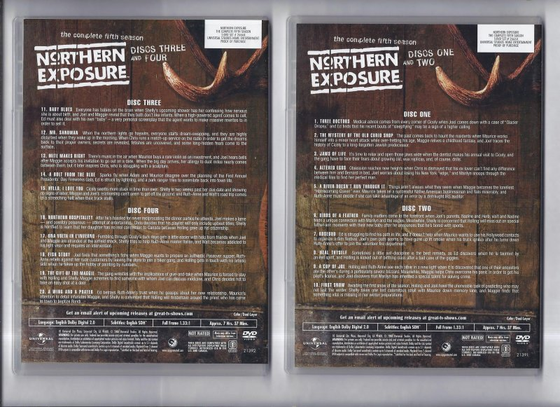 Image 1 of Northern Exposure The Complete Fifth Season DVD 5 Disc Set