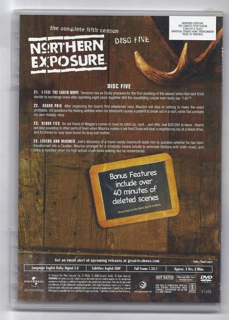 Image 3 of Northern Exposure The Complete Fifth Season DVD 5 Disc Set