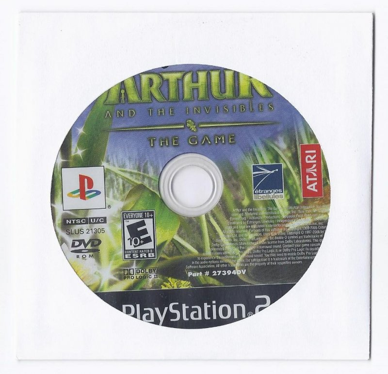 Image 0 of Arthur and the Invisibles the game PS2 Game PlayStation 2