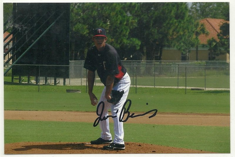Image 0 of Jose Berrios Signed Autographed 4x6 Glossy Photo Twins