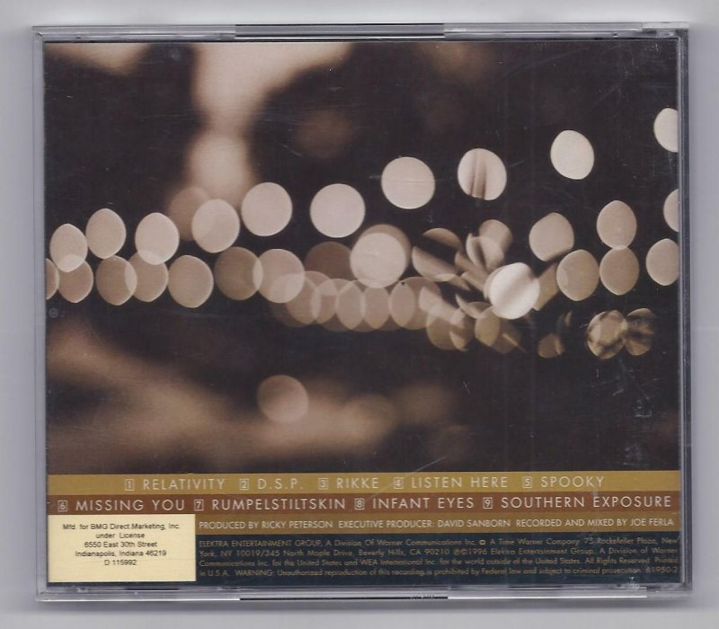 Image 1 of David Sanborn Songs From Thehe Night Before Music CD