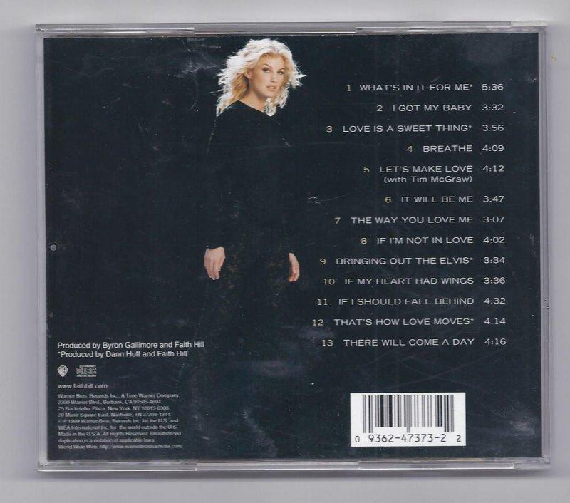 Image 1 of Faith Hill Breathe Music CD