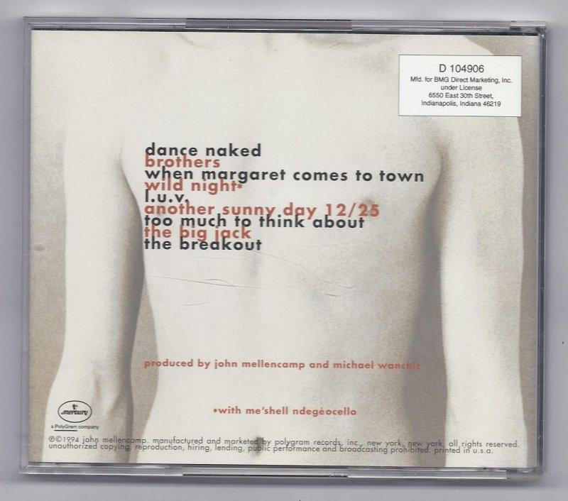 Image 1 of John Mellencamp Dance Naked Music CD