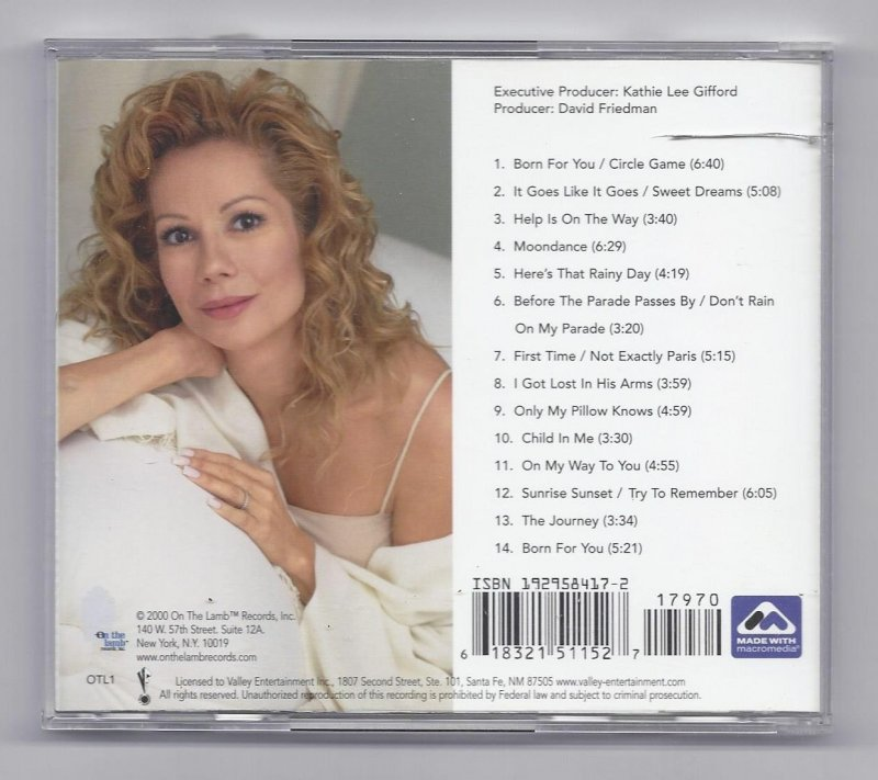 Image 1 of Kathie Lee Born For you Music CD
