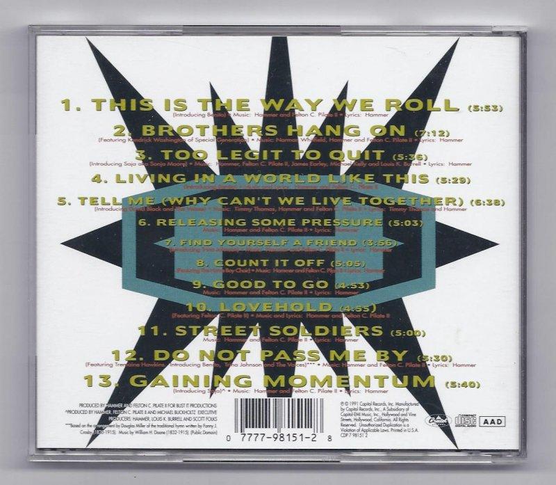 Image 1 of Mc Hammer Too Legit To Quit Music CD