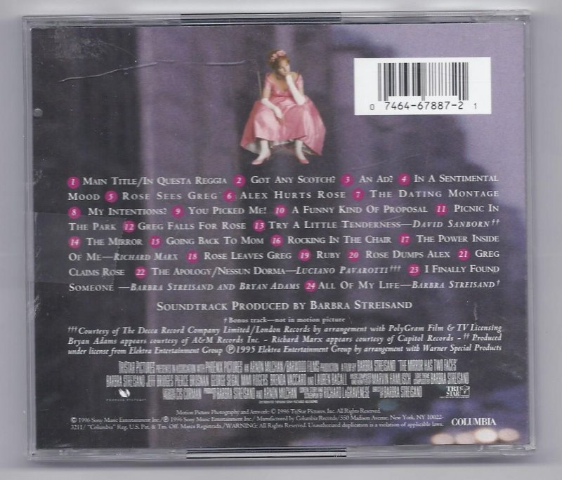 Image 1 of The Mirror Has two faces original motion Picture soundtrack Music CD