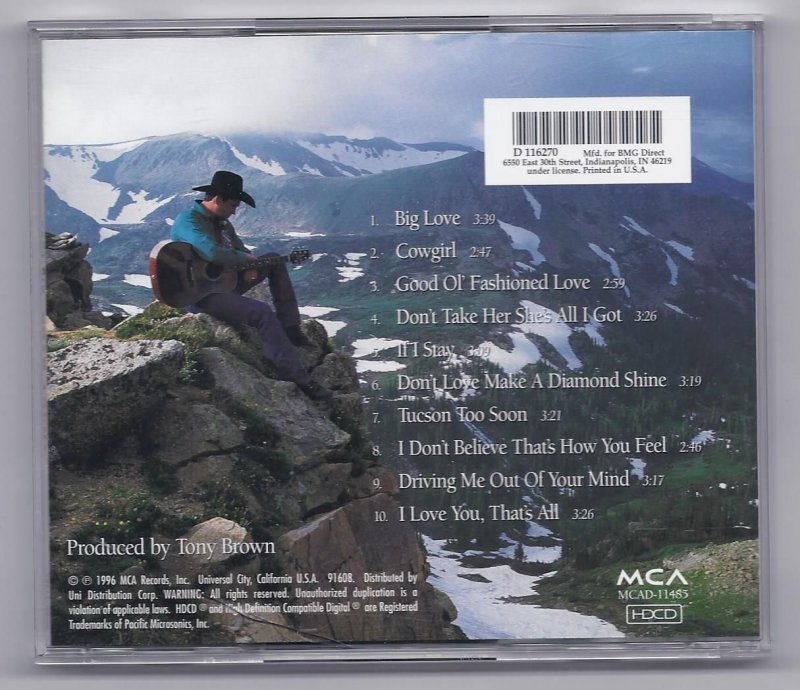 Image 1 of Tracy Byrd Big Love Music CD