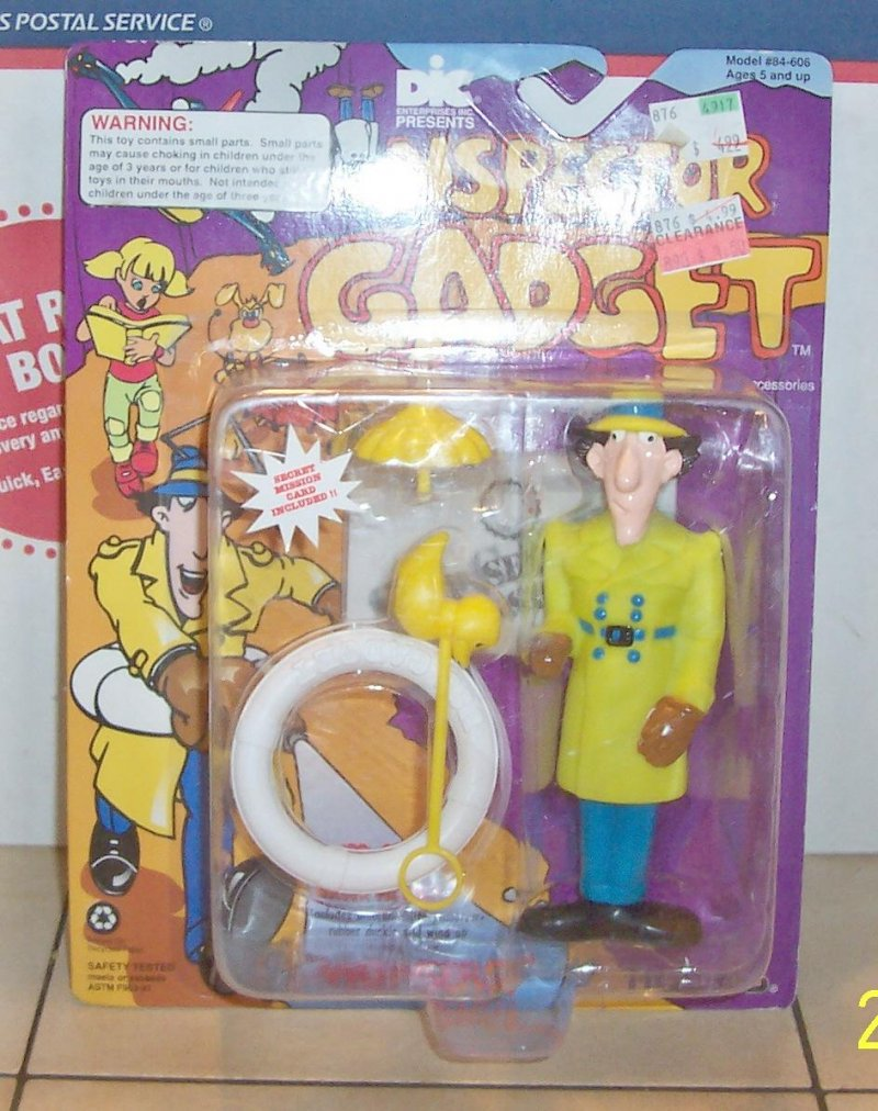 Image 0 of 1992 DIC Tiger Toys INSPECTOR Gadget Action Figure MIB