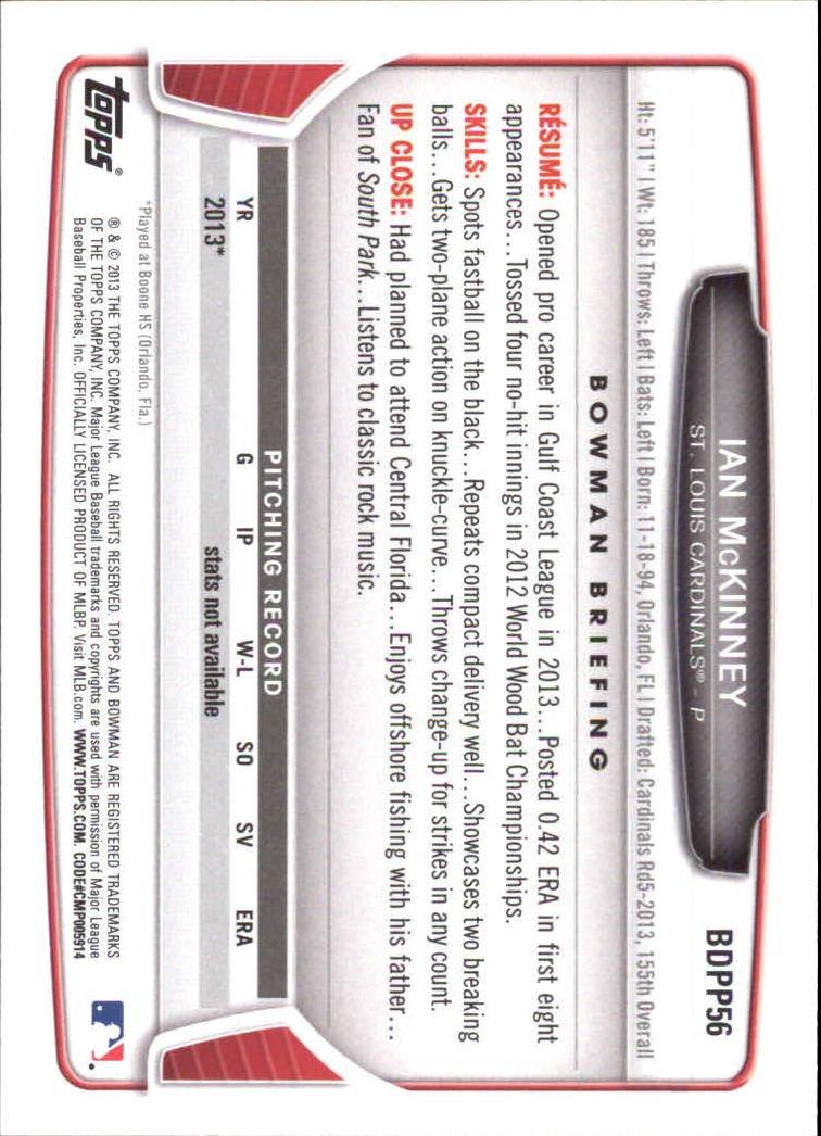Image 1 of 2013 Bowman Draft Draft Picks #BDPP56 Ian Mckinney Card