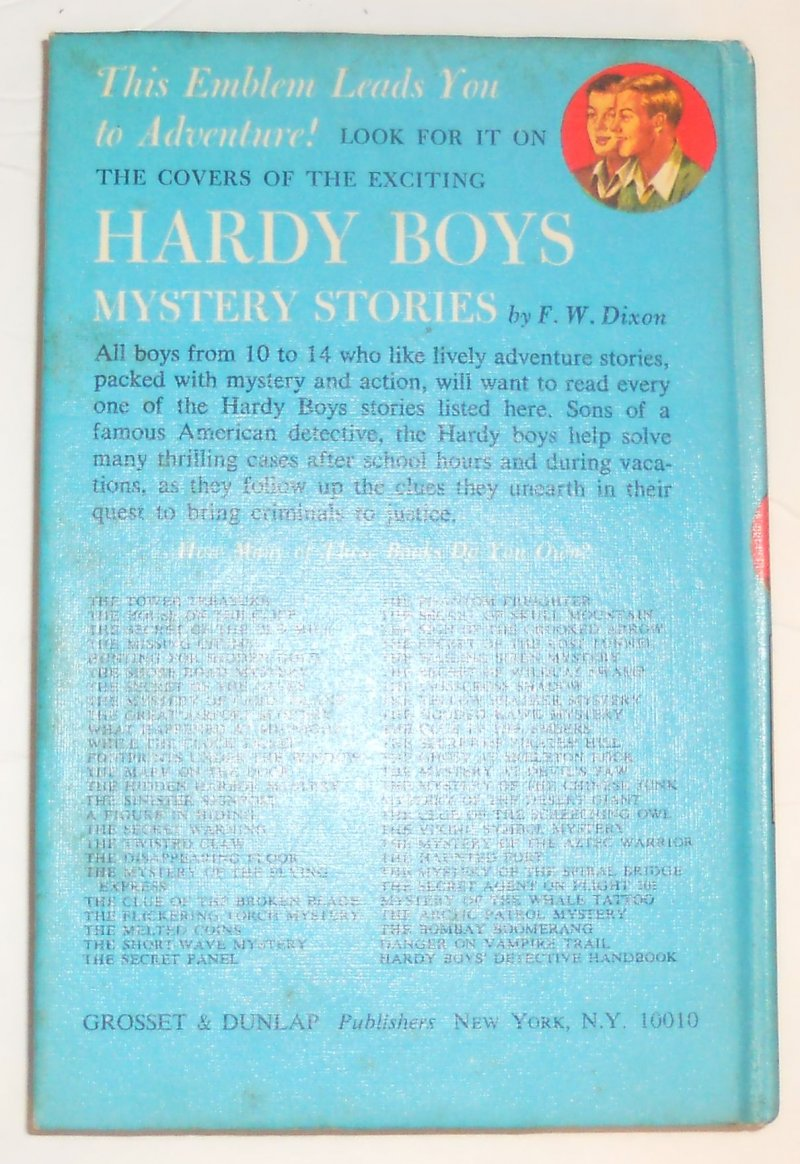 Image 1 of Hardy Boys #10 What Happen At Midnight By Franklin Dixon 1967