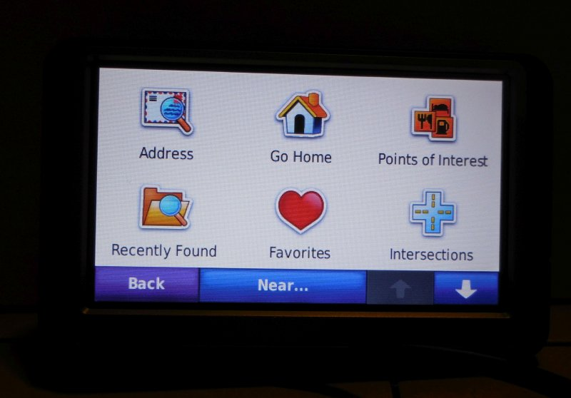 Image 5 of Garmin Nuvi 260W GPS Navigation Device Touchscreen Spoken Street Names