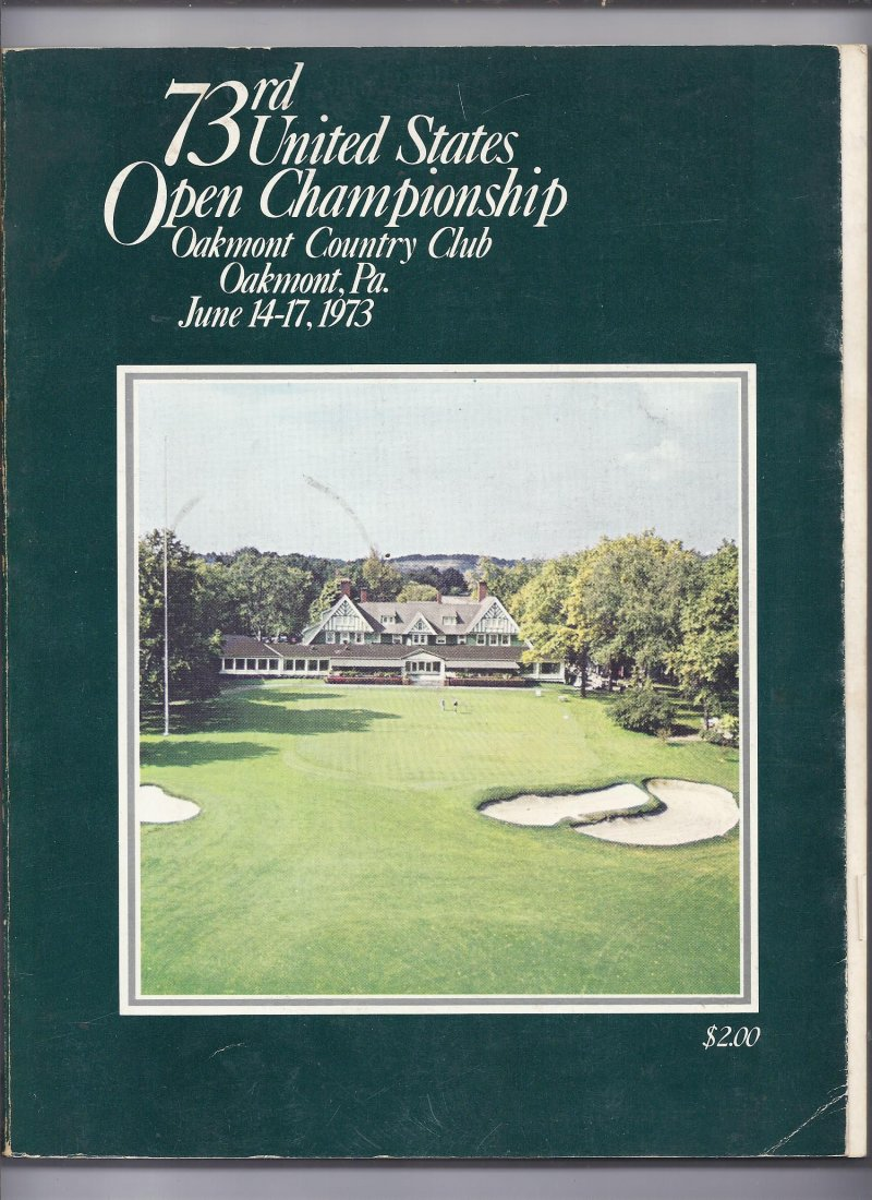 Image 0 of 1973 US Open Championship Golf Program Johnny Miller Wins