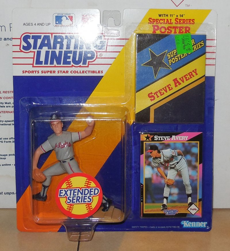 Image 0 of 1992 Kenner SLU Starting Lineup Steve Avery Figure Atlanta Braves