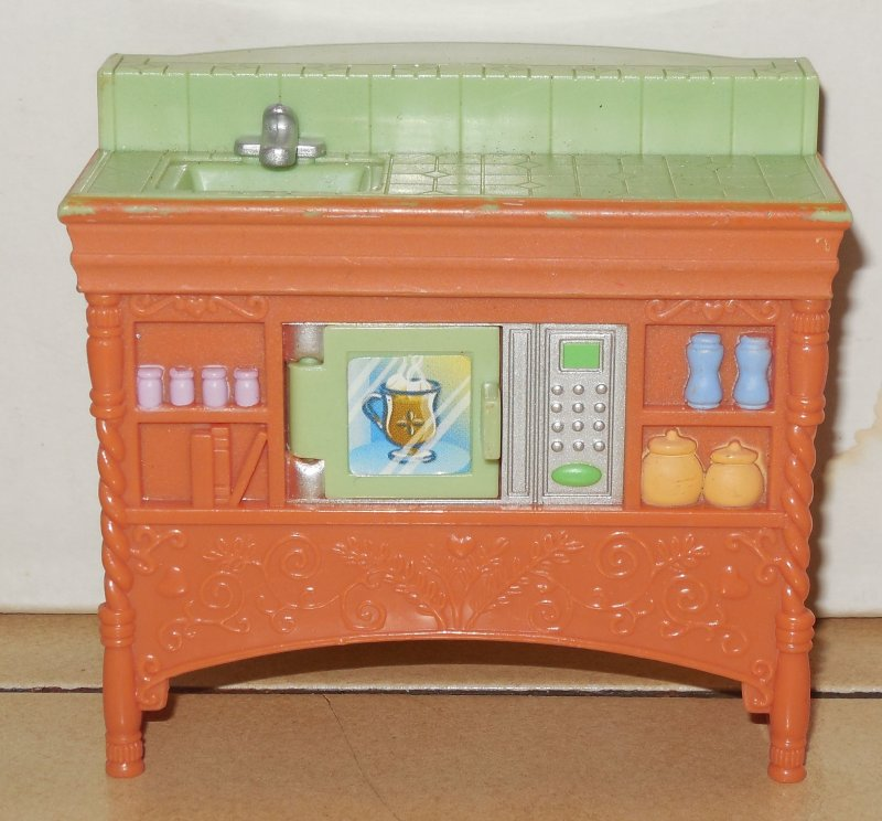 Image 0 of LOVING FAMILY DOLLHOUSE FISHER PRICE Kitchen Counter With Sink