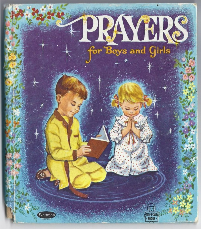 Image 0 of Prayers For Good Boys and Girls A Golden Tell A Tale Book Whitman Vintage