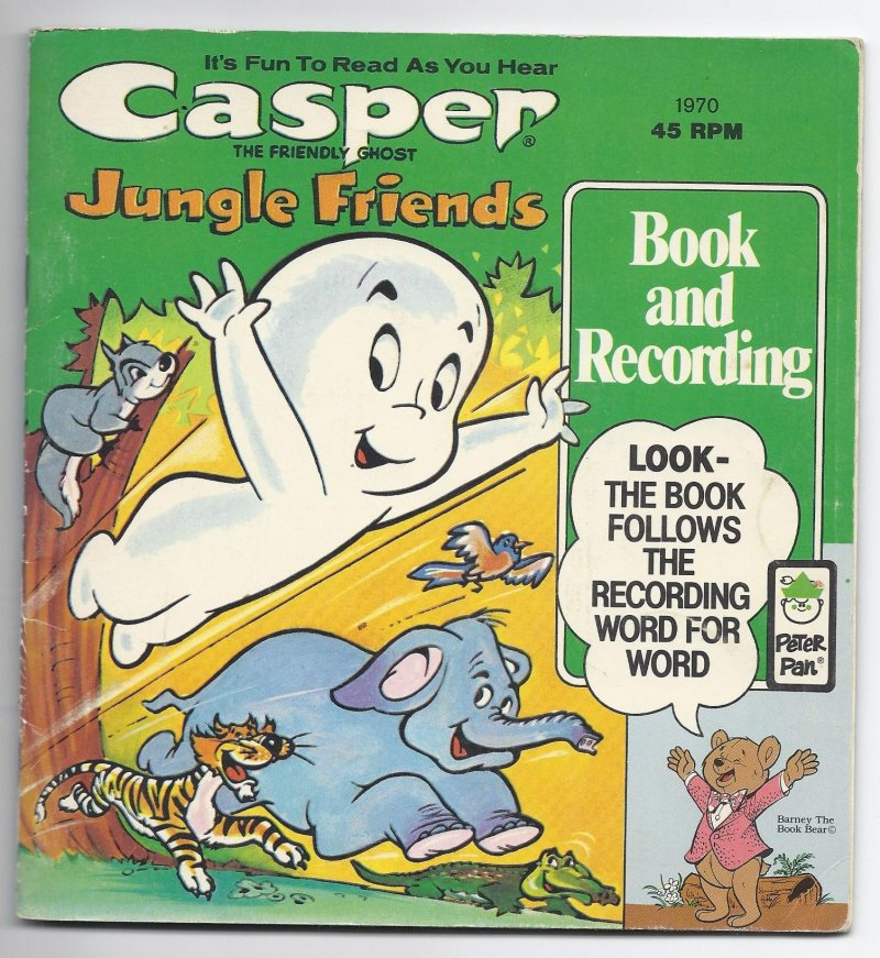 Image 0 of PETER PAN BOOK & RECORD Casper The Friendly Ghost Jungle Friends