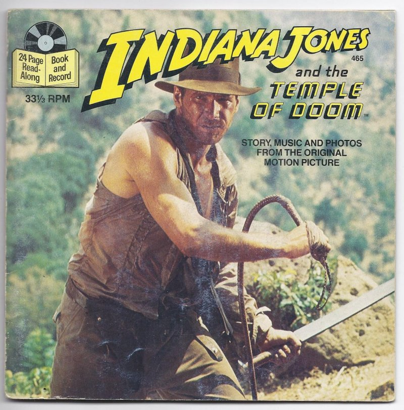 Image 0 of Book & Record INDIANA JONES AND THE TEMPLE OF DOOM 33 1/3 RPM