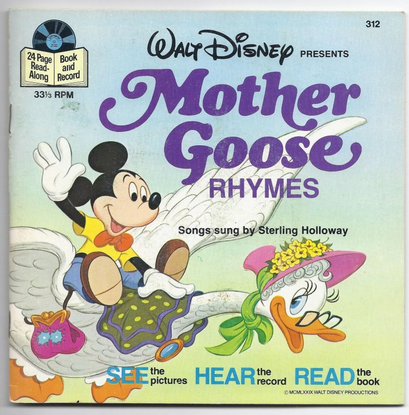 Image 0 of DIsneyland Book & Record Mother Goose Rhymes 33 1/3 RPM