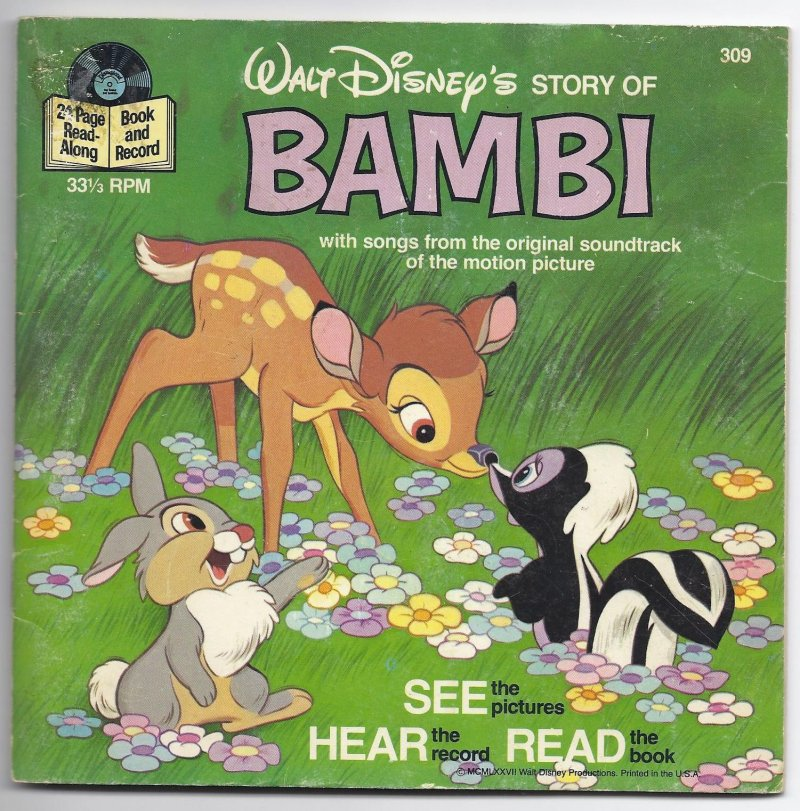 Image 0 of Disneyland Book & Record The Story Of Bambi 33 1/3 RPM