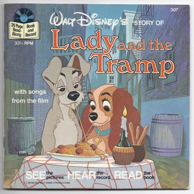 Image 0 of Disneyland Book & Record Lady and the Tramp 33 1/3 RPM