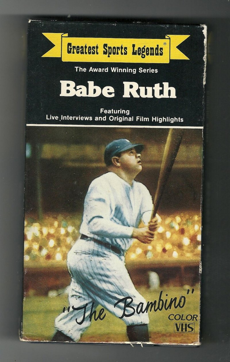 Image 0 of Greatest Sports Legends Babe Ruth VHS Video Tape