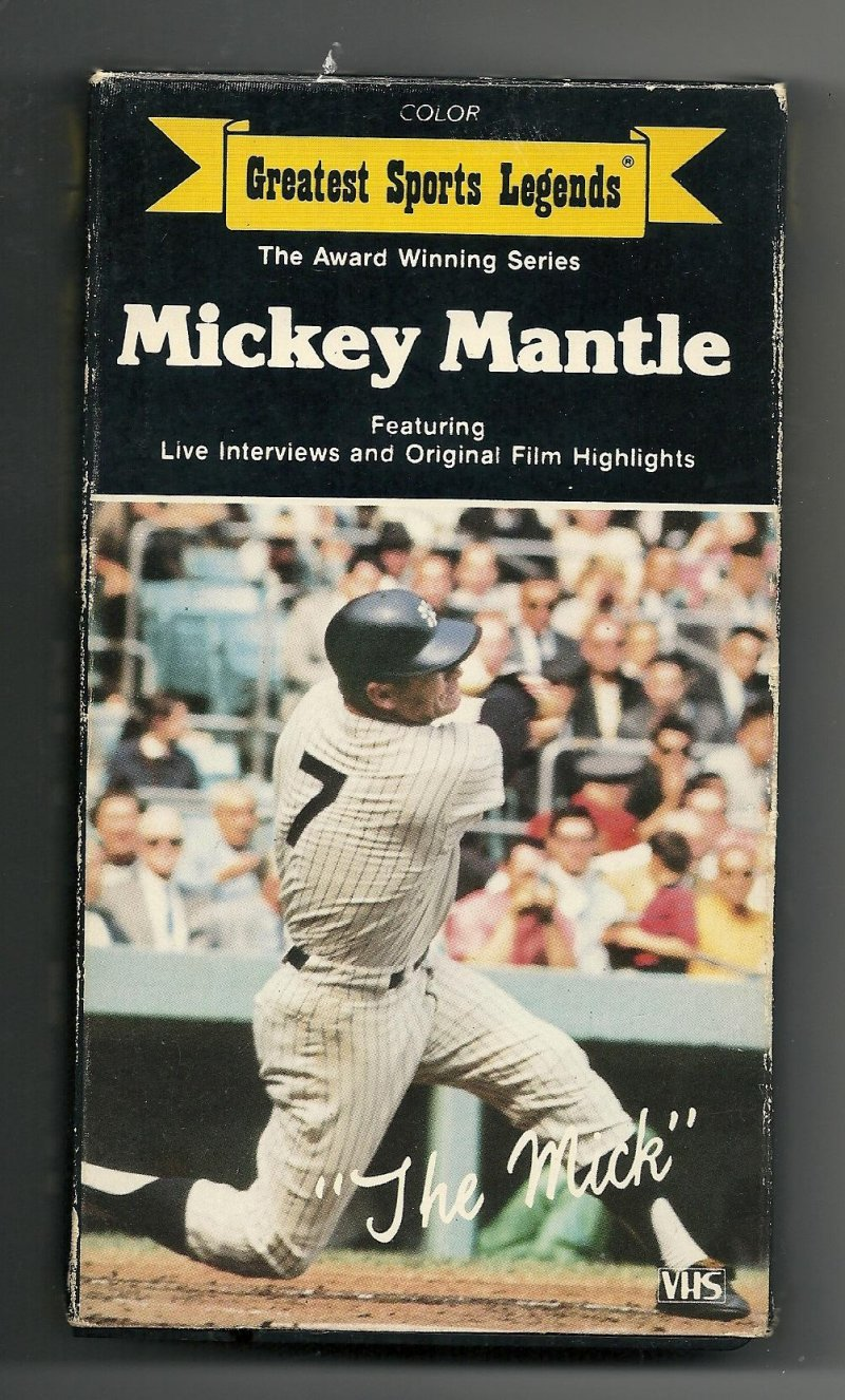 Image 0 of Greatest Sports Legends Mickey Mantle VHS Video Tape