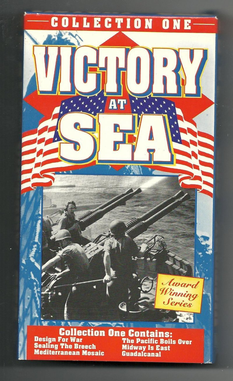 Image 0 of Victory At Sea Collection 1 2 3 & 4 VHS Video Tapes